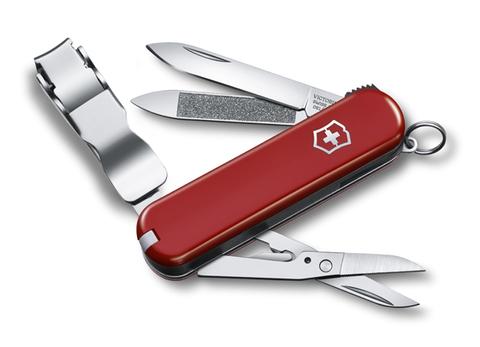 Нож-брелок Victorinox Classic Nail Clip 580, 65 мм, 8 функций, красный