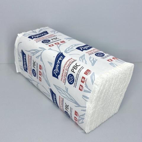 Полотенце бумажное листовое Papero V сложения 1сл. 230х245 мм (150 л.) белое (RV032)