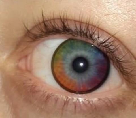 Цветные линзы Marquise big Rainbow радужные /Цветные линзы цвет радуги