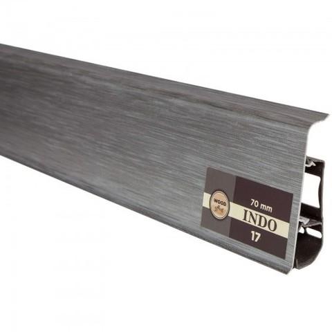 Плинтус Arbiton INDO70 17 Алюминий 2,5 м с к/к м/к