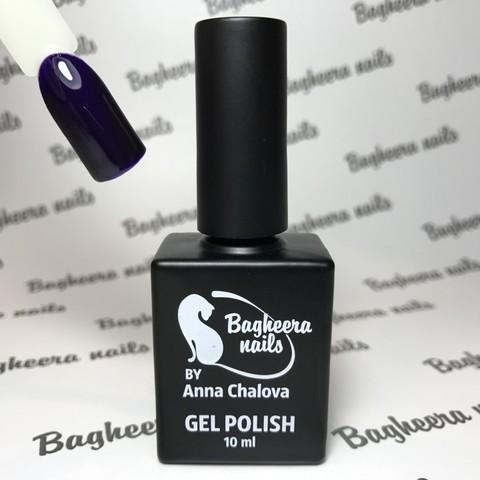 Bagheera Nails BN-40 сине-фиолетовый глубокий оттенок, чернильно-фиолетовый, ежевичный 10 мл