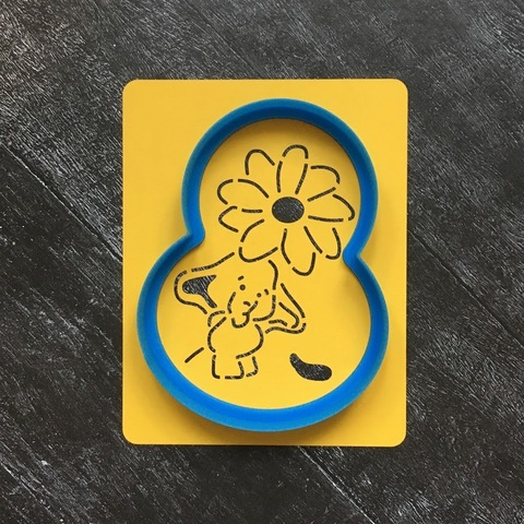 Слон №5 с цветочком
