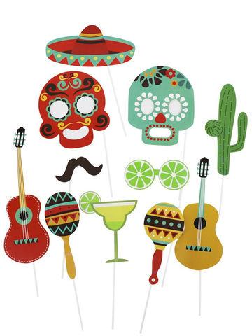 Набор для фотосессии Мексиканская вечеринка 11 шт