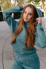 Спортивный костюм флисовый зеленый Nadya