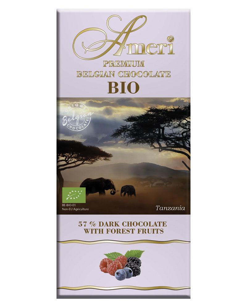 Горький Шоколад Ameri 57% Какао с Лесными Ягодами БИО 100гр