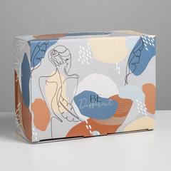 Коробка сборная «Силуэт», 26 × 19 × 10 см, 1 шт.