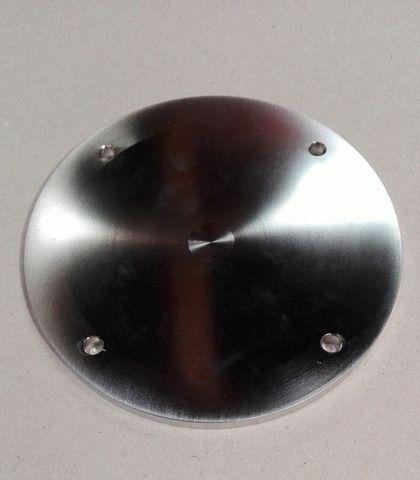 12897 Передняя крышка корпуса молочного насоса, нержавеющая сталь, способ изготовления изделия - станочная обработка