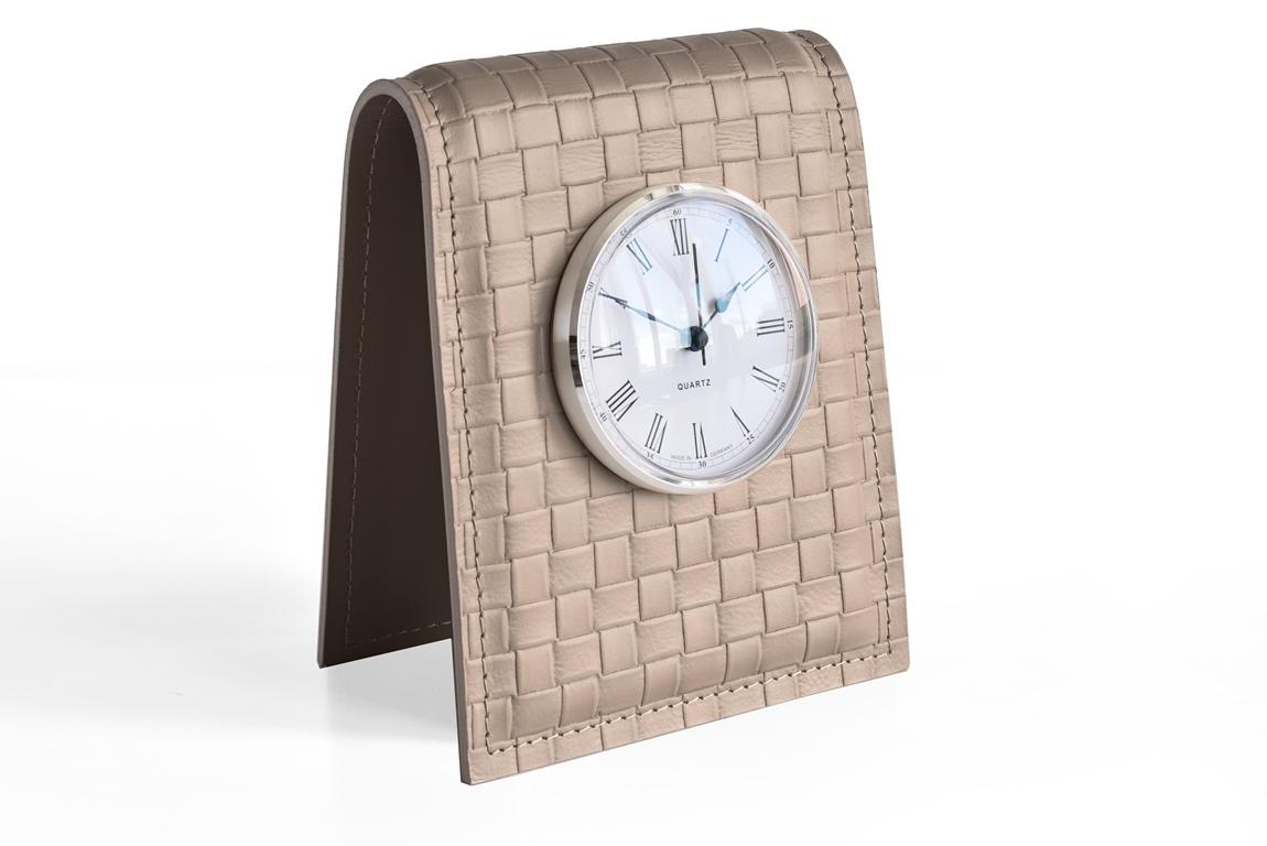 Бежевые настольные часы buvardo treccia d85