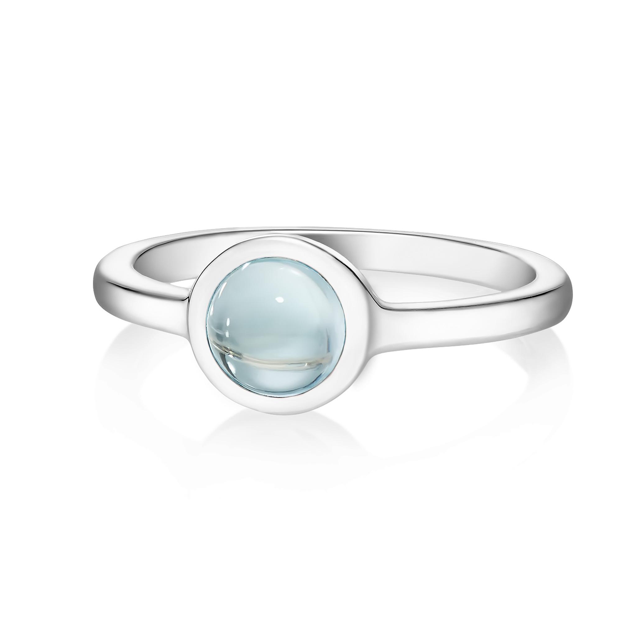 Кольцо ALPHA - Голубой топаз