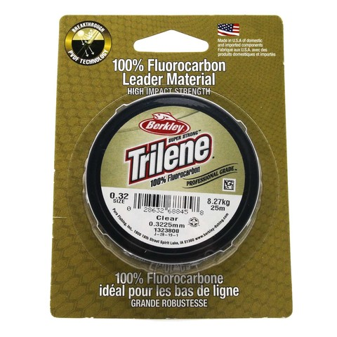 Леска флюорокарбоновая Berkley Trilene Fluorocarbon Leader 0,32 25M Clear
