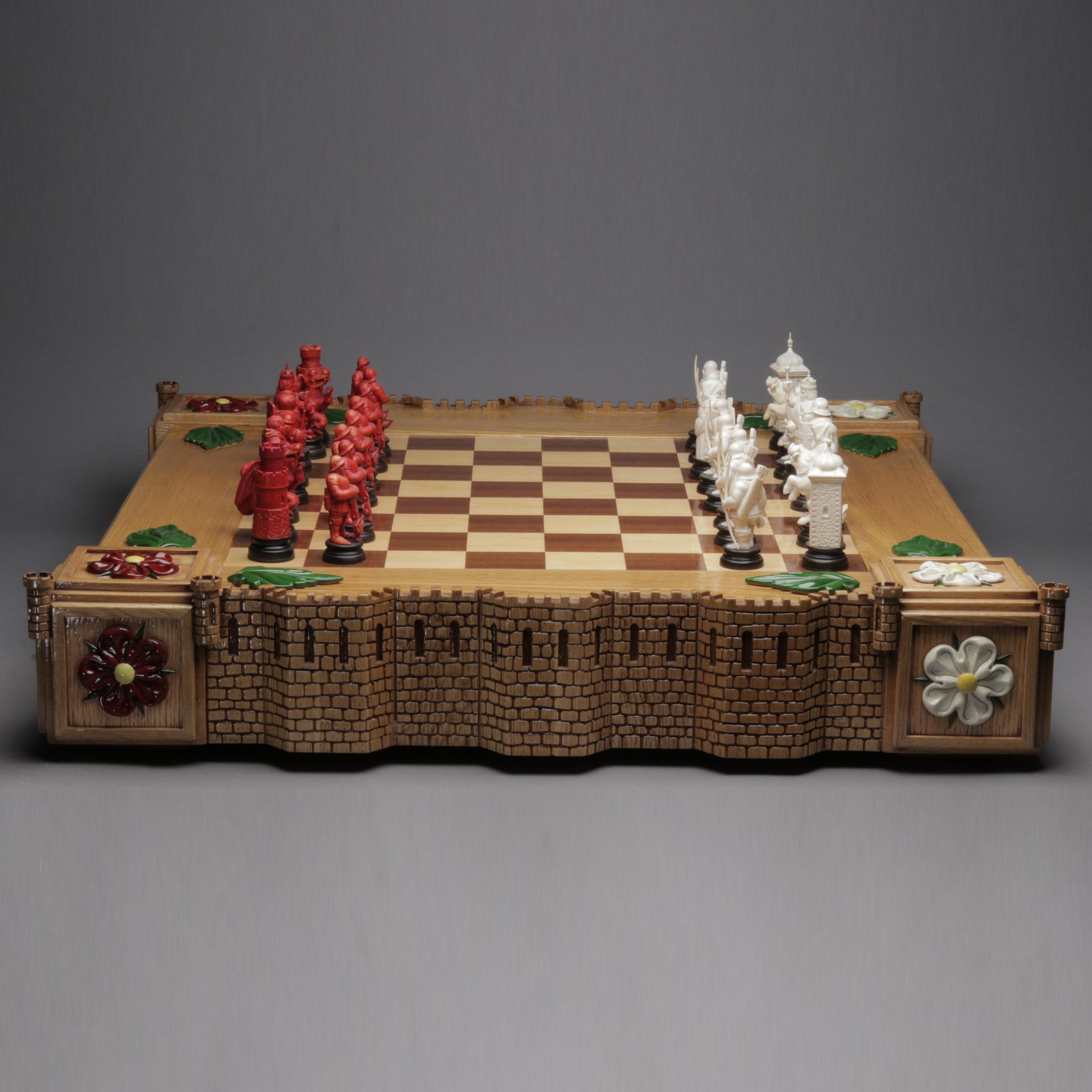 Шахматный набор «Алая и Белая роза»