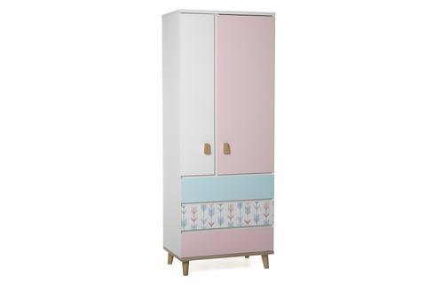 Шкаф LX 33 розовый-принт