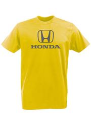 Футболка с принтом Honda (Хонда) желтая 002