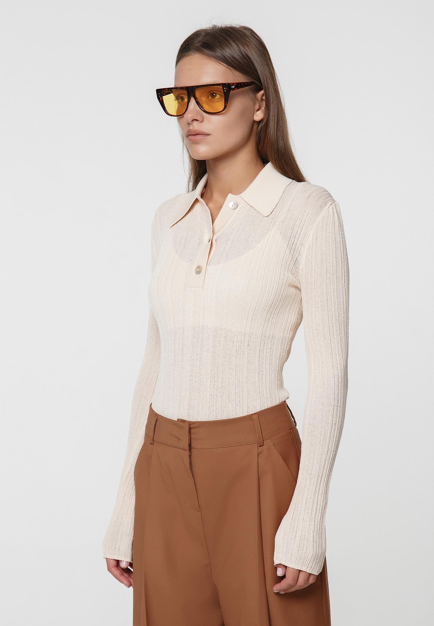 Трикотажная рубашка поло на пуговицах