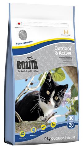 30230 BOZITA Funktion Outdoor&Active сух.корм д/Активных кошек 10кг НОВИНКА