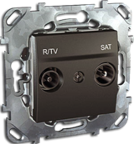 Розетка R-TV/SAT одиночная. Цвет Графит. Schneider electric Unica Top. MGU5.454.12ZD