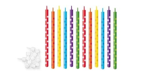 Свечи для торта с подставками Tescoma DELICIA KIDS 10 см, 12 шт.