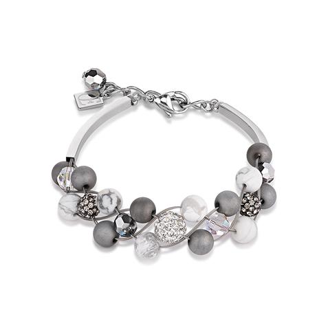 Браслет Coeur de Lion 4845/30-1214 цвет серый, белый, серебряный