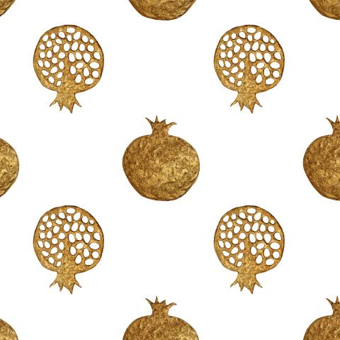 Золотые гранаты винтажные