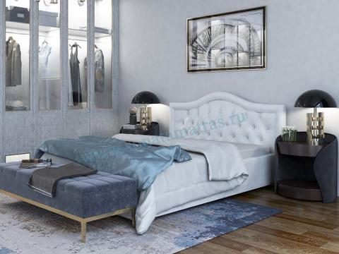 Кровать Амстердам с мягким изголовьем в рамке