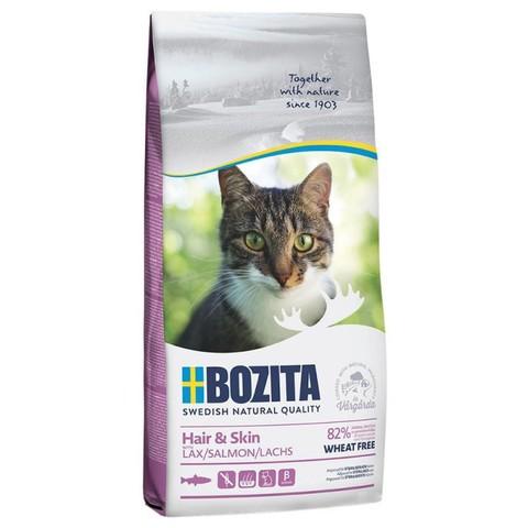 Bozita Hair & Skin Wheat Free Сухой корм для кошек с чувствительной кожей и шерстью с лососем (без пшеницы)