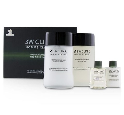 3W Clinic Подарочный набор увлажняющих средств по уходу за мужской кожей Homme Classic Moizturizing Freshness Essential Skin Care Set