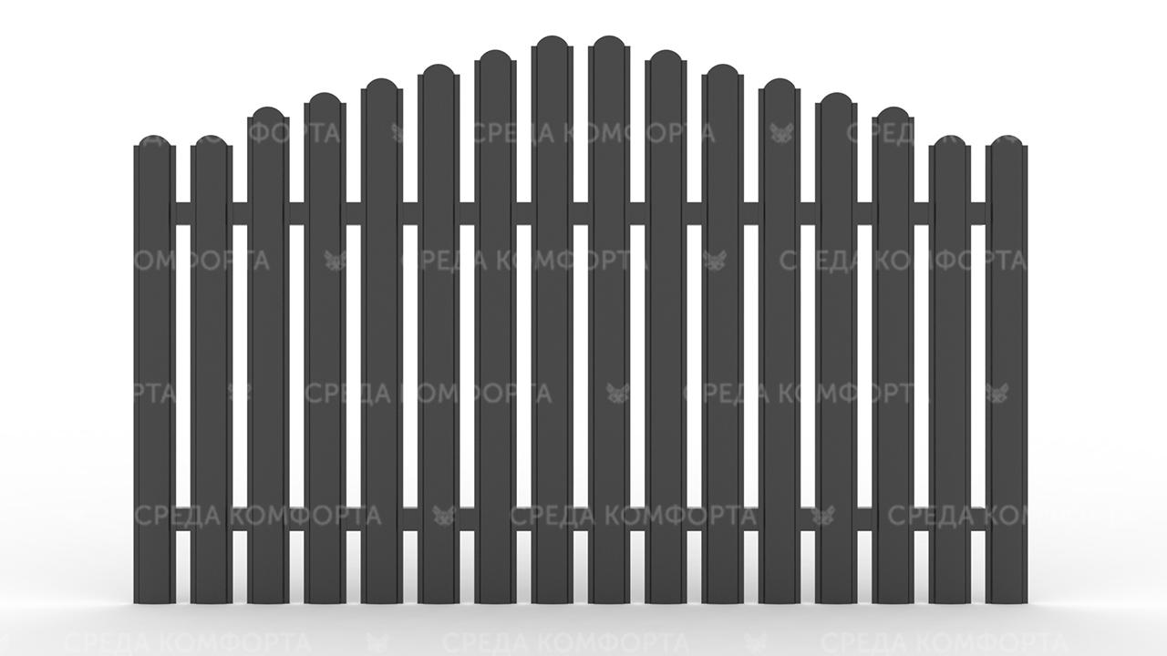 Забор из евроштакетника ZBR0049