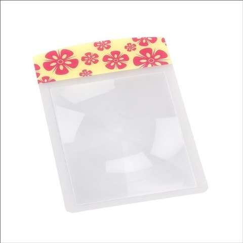Flexible magnifier wallet Size pink flow