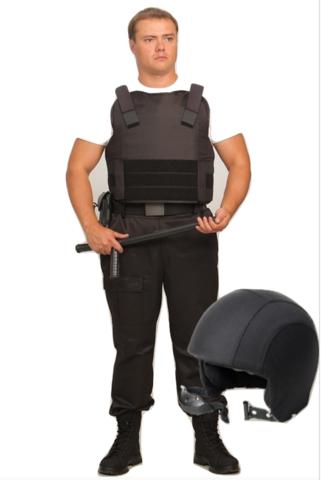 Комплект бронежилет Комфорт 2-2 УНИ и шлем Каппа-2, Бр2 класс защиты