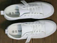 Белые женские кроссовки сникерсы El Passo 820 All White.
