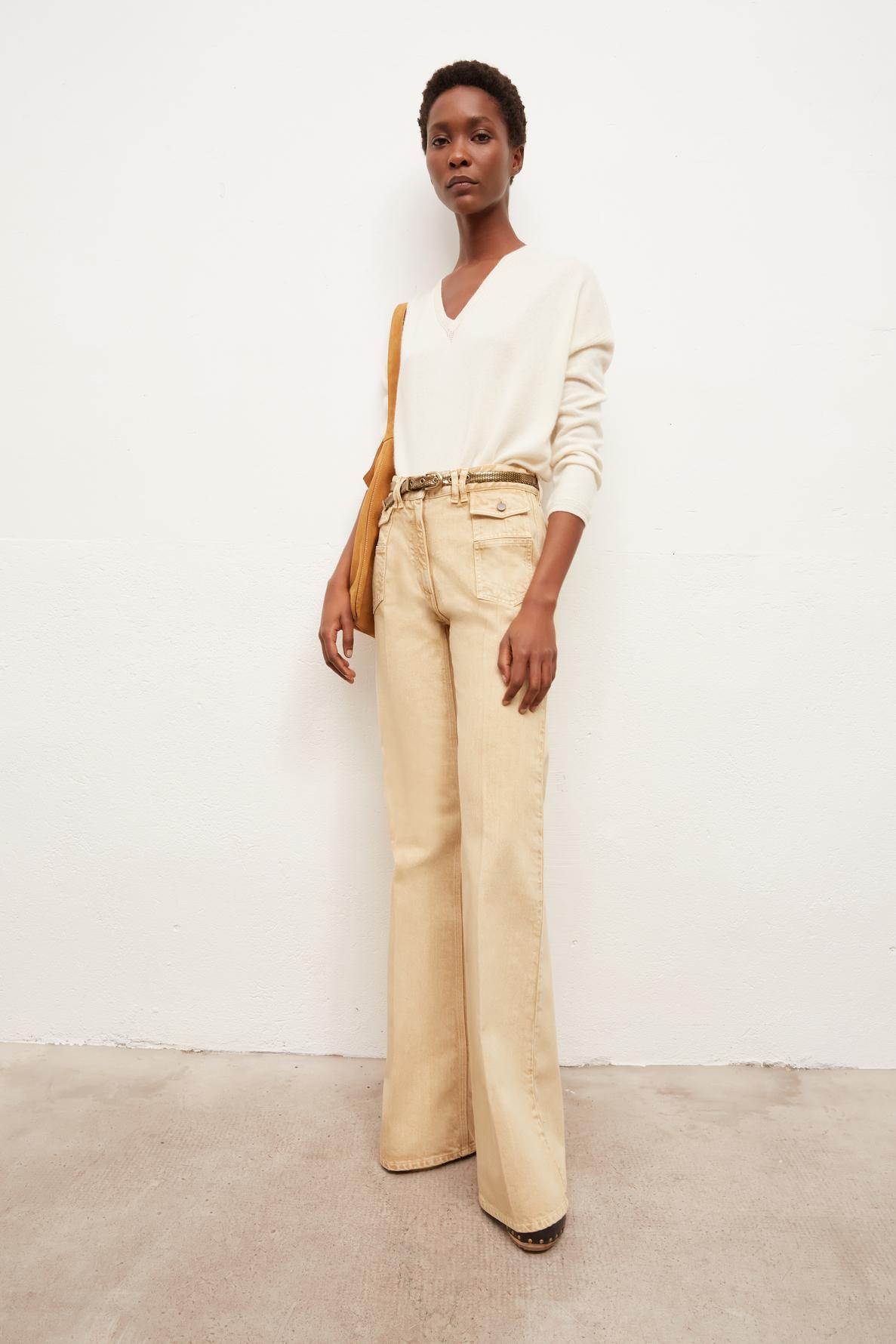 ANNA - широкие джинсы с завышенной талией