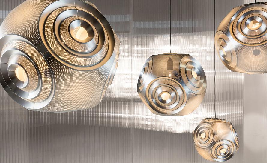 Подвесной светильник копия Curve Ball by Tom Dixon (серебряный)