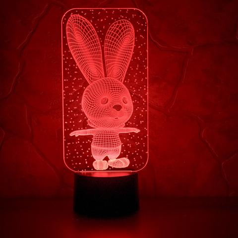 Лампа Заяц и снежинки