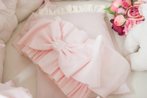 Бант на одеяло- конверт Экрю