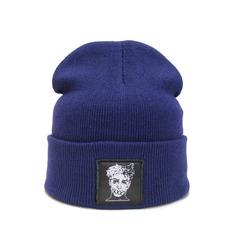 Вязаная шапка с вышивкой XXXTentacion (Онфрой) синяя фото 1