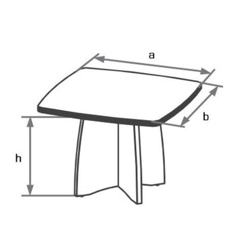 Конференц-стол криволинейный 1000х1000 БОСТОН