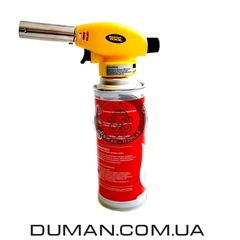 Газовая горелка с пьезоподжигом + газовый баллон для розжига угля для кальяна