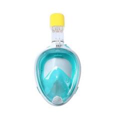 Маска для плавания Free Breath зеленая (размер L/XL)