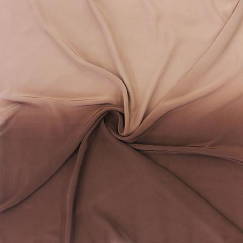 Шелковый платок батик Какао С-56