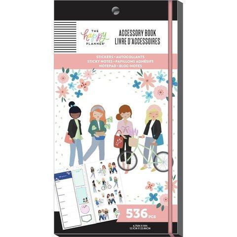 Блокнот со стикерами и стекерблоками Happy Planner Accessory Book Squad Goals - 536шт