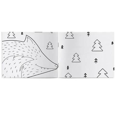 Раскраска «Волк и семеро козлят» для самых маленьких