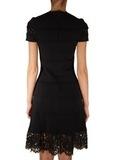 Платье из вискозы с кружевом VALENTINO
