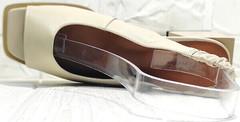 Красивые босоножки женские кожаные Brocoli H150-9137-2234 Cream
