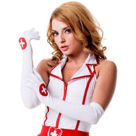 Перчатки для костюма медсестры