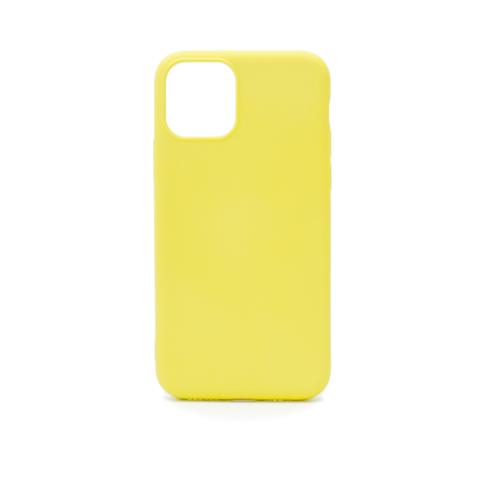 Чехол для iPhone 11 Pro Софт тач мягкий эффект | микрофибра светло-желтый