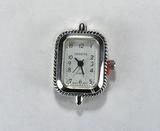 Основа для часов, металлическая, 29x19 мм, посеребренная, 1 шт.