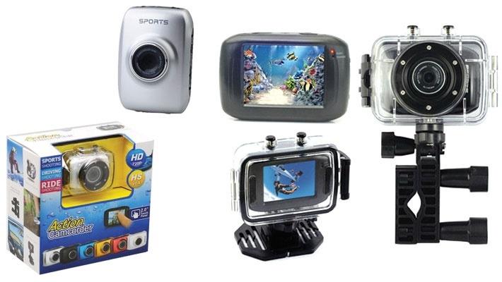 Цифровая мини камера Action Camcorder с водонепроницаемым чехлом