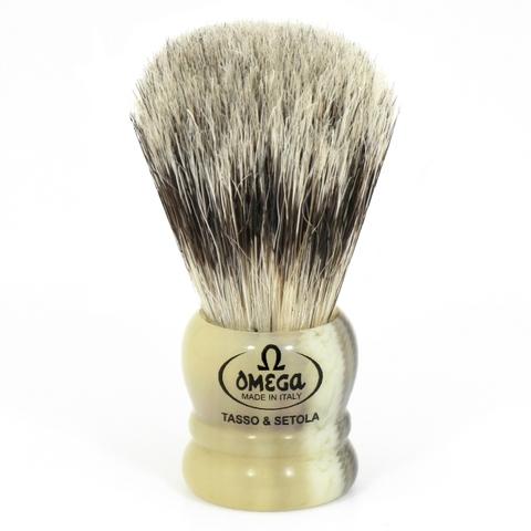 Помазок для бритья Omega ворс барсука+ кабана 11047