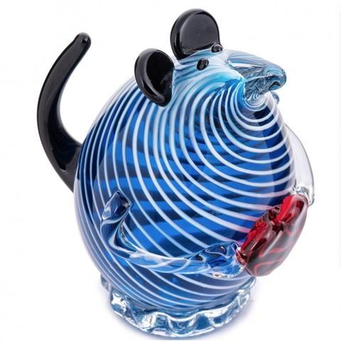 Новогодняя Синяя мышь с сердцем – Символ 2020 года