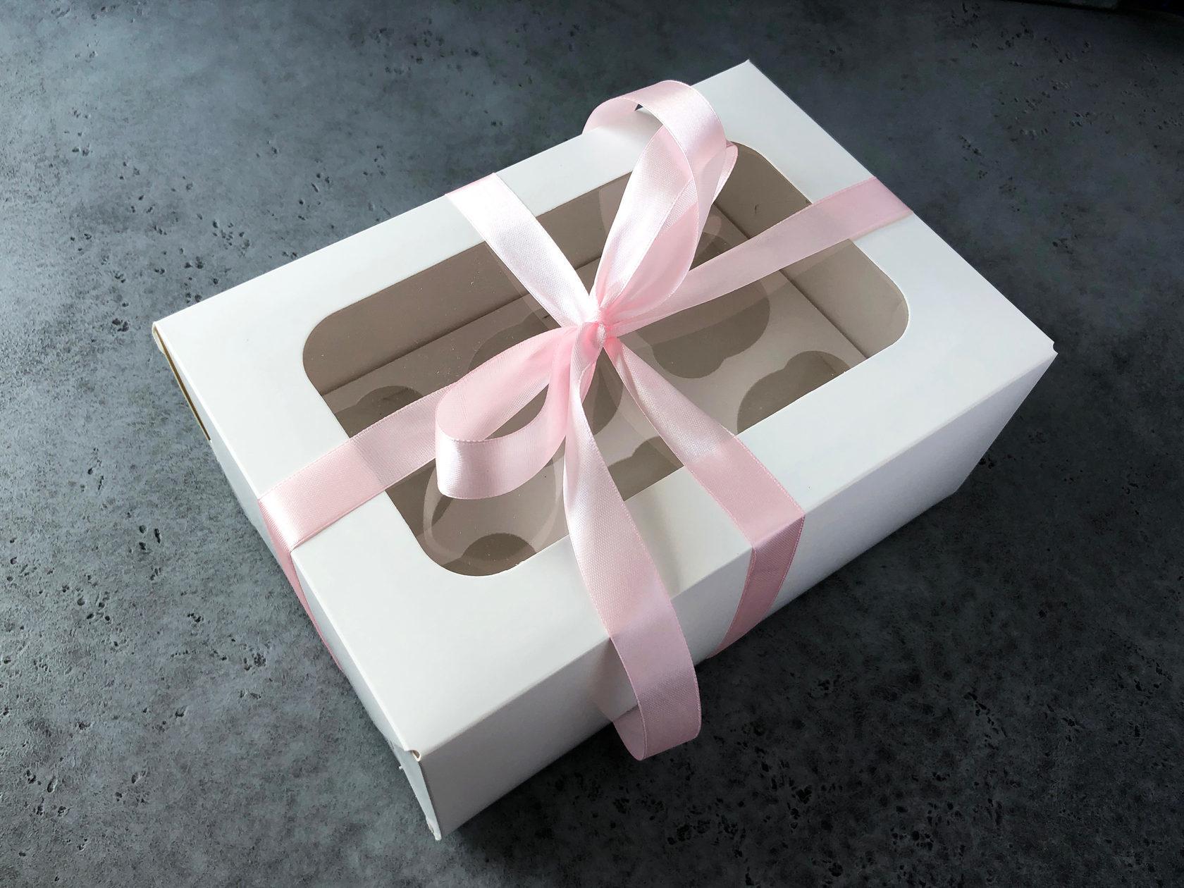 Коробка на 6 капкейков, 23,5x16x10 см